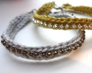 Crochet Bracelet Patterns With Beads