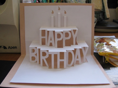 DIY 3D Birthday Cake Card