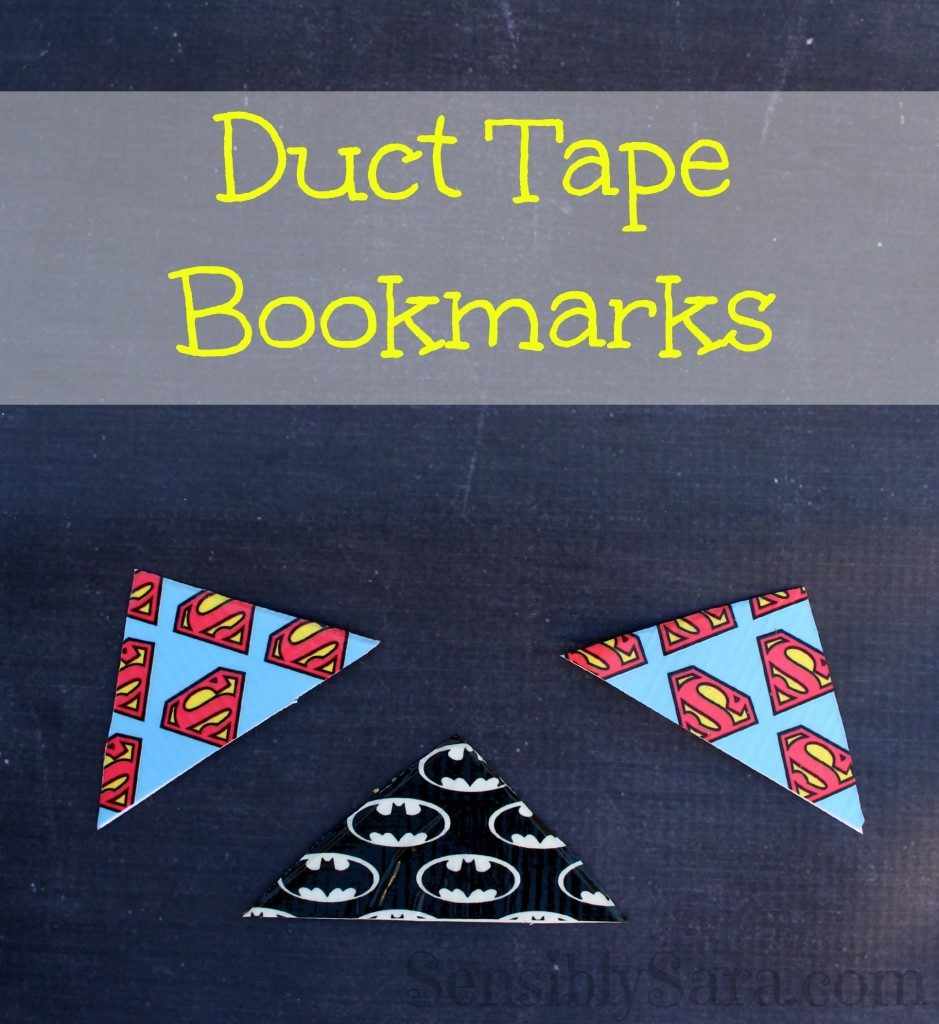 DIY BOOKMARKS DUCT TAPE