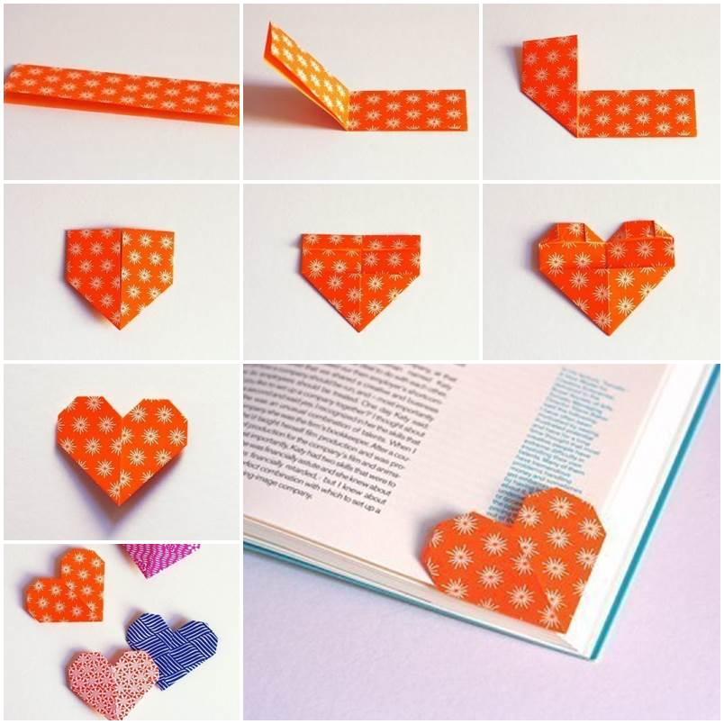 DIY BOOKMARKS ORIGAMI