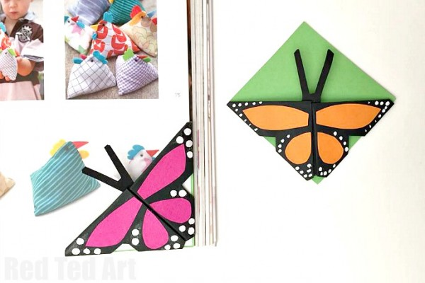 DIY BUTTERFLY BOOKMARKS