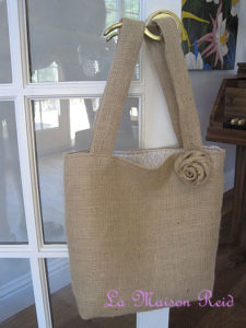 DIY Burlap Tote Bags Step by Step Tutorial