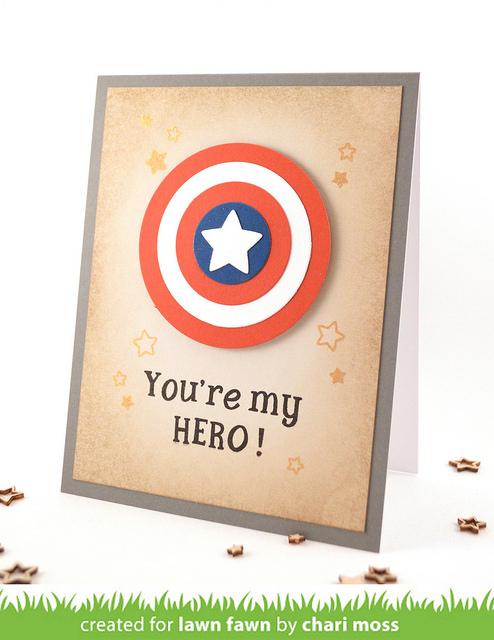 DIY Captain America Birthday Cards