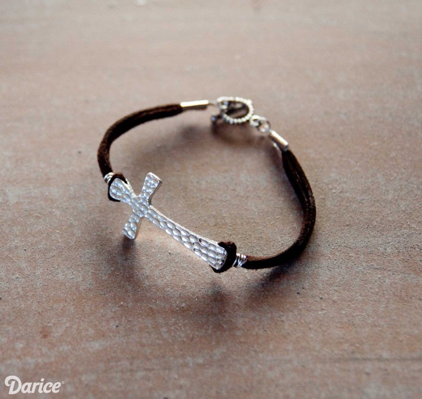 DIY Cross Ankle Bracelets ANklets