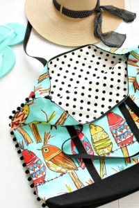 Funky DIY Fabric Tote Bag