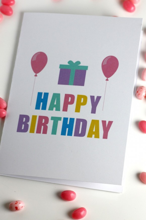 DIY Printable Birthday Cards