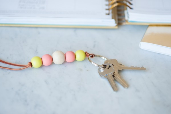How to make Wooden Beaded Keychain