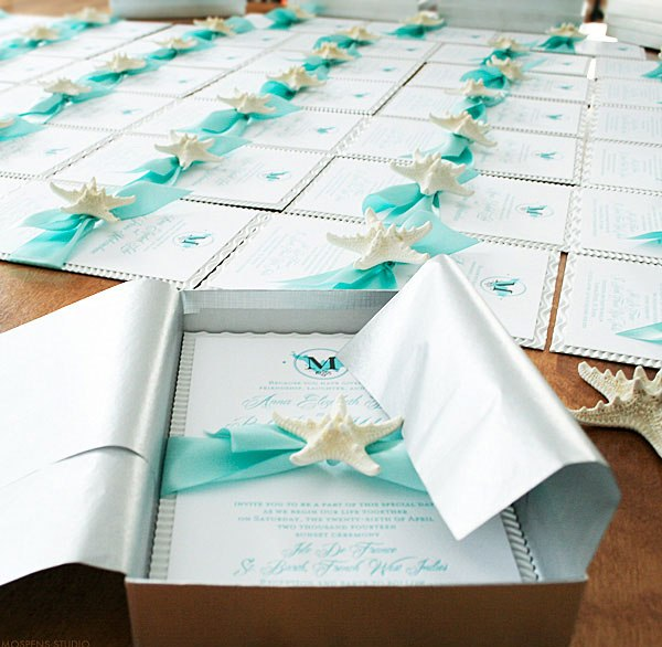Beach Wedding Invitations DIY