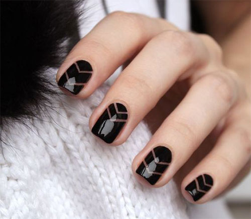 Black Gel Nail Designs