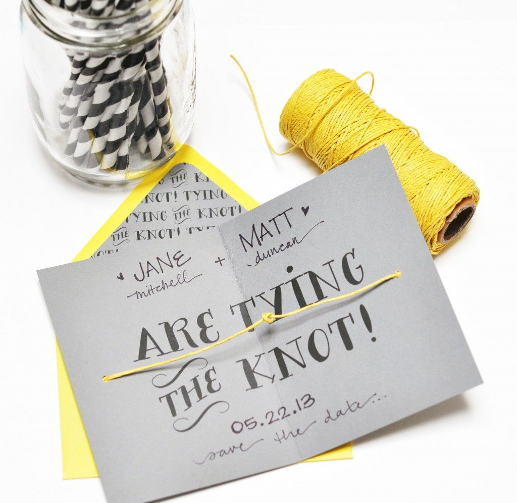Cute DIY Wedding Invitations