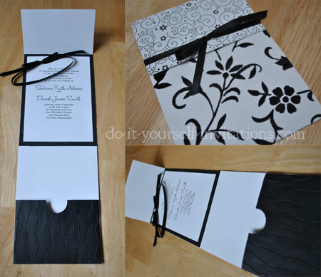 DIY Black and White Wedding Invitations