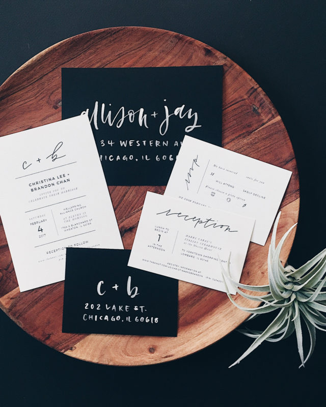 DIY Calligraphy for Wedding Invitations