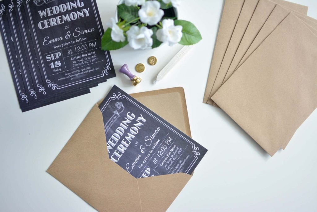 DIY Chalkboard Wedding Invitations