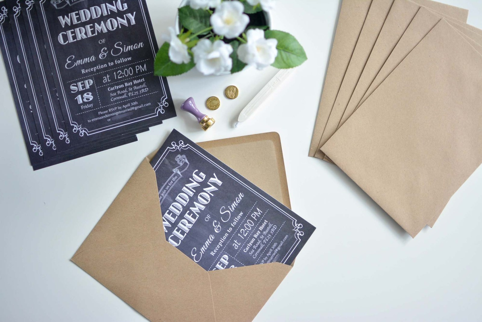 Unique Diy Wedding Invitations Images Party Ideas Great Chalkboard Pictures 35