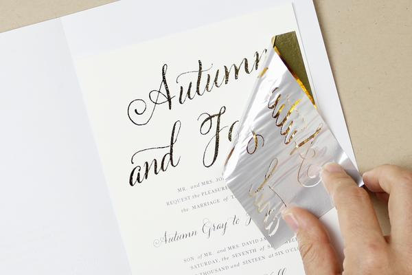 DIY Gold Wedding Invitations