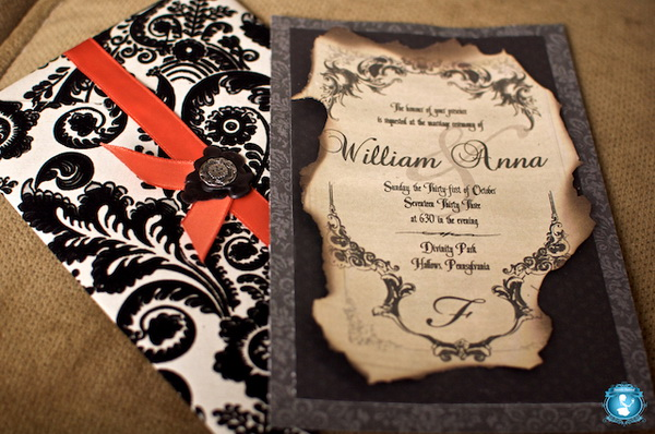 DIY Halloween Wedding Invitation Ideas