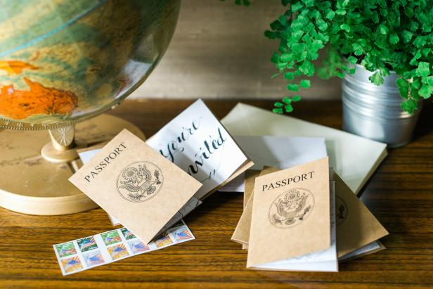 DIY Passport Wedding Invitations