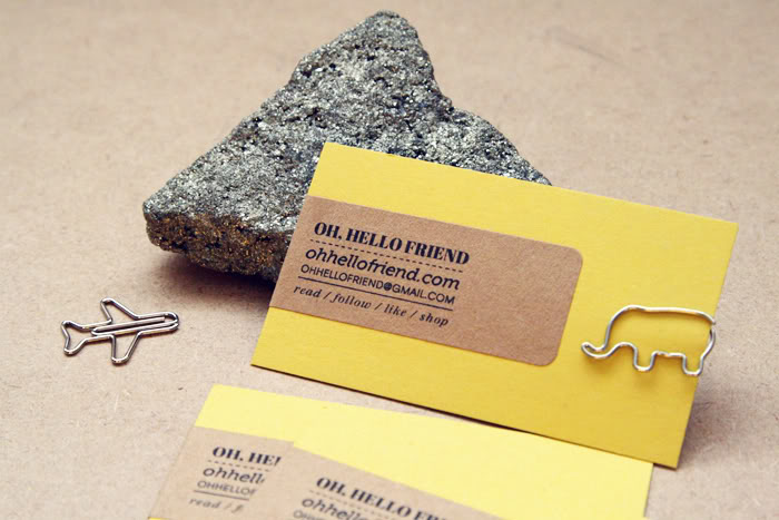 DIY Pretty Business Cards