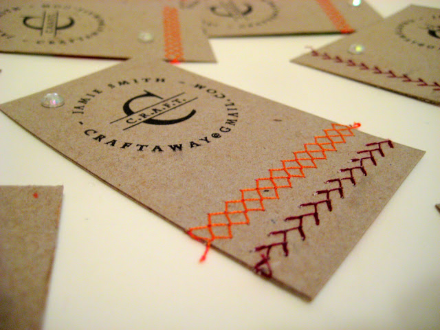 DIY Textured Business Cards