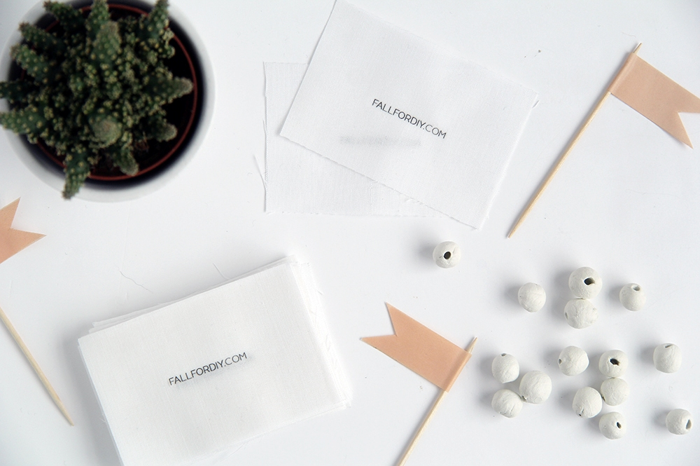 DIY Business Cards with Fabric