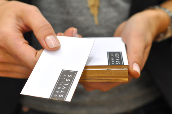 How to DIY Spray Paint Business Cards