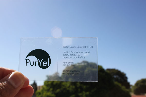 How to Make Frosted Plastic Business Cards