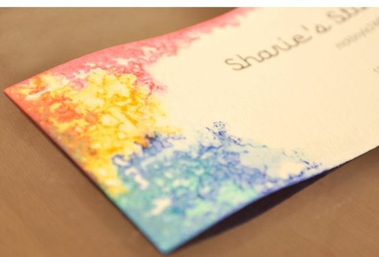 How to Make Tie Dye Business Cards