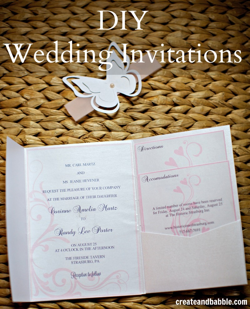 Inexpensive DIY Wedding Invitations