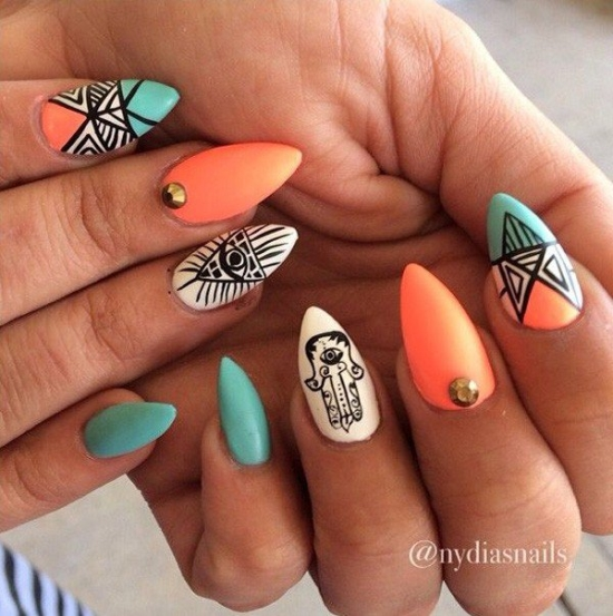 Quirky diy gel nail designs and ideas neon gel nail designs prinsesfo Choice Image
