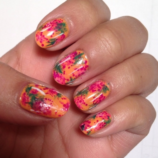 Orange Gel Nail Designs