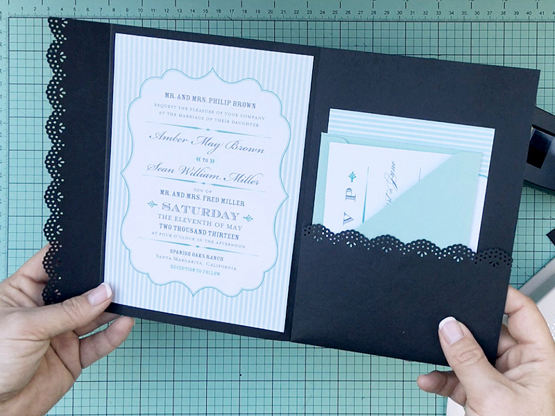 Pocketfold Wedding Invite DIY