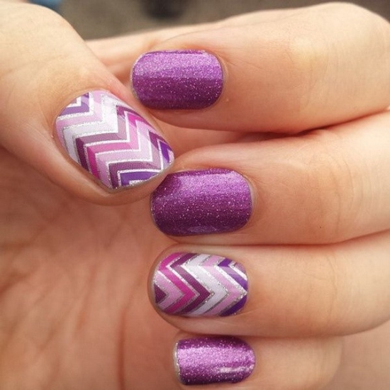 purple gel nail polish designs - Purple Gel Nail Polish Designs - Creative Touch