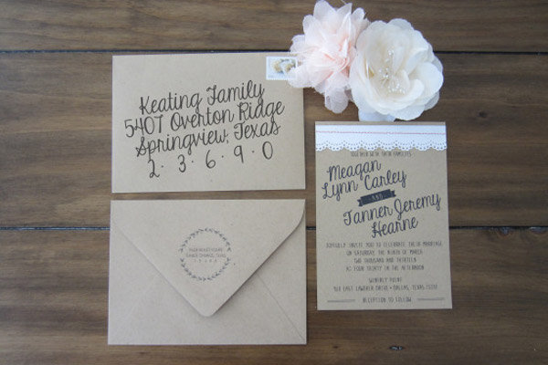 Simple Elegant DIY Wedding Invitation Idea