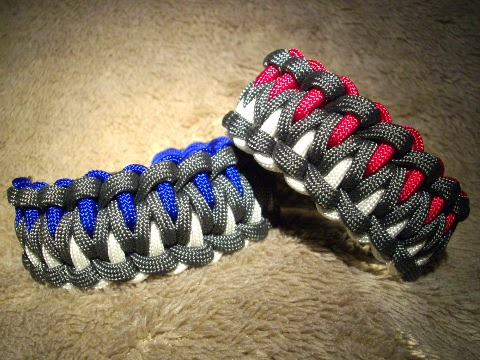 Three Color Paracord Bracelet Pattern