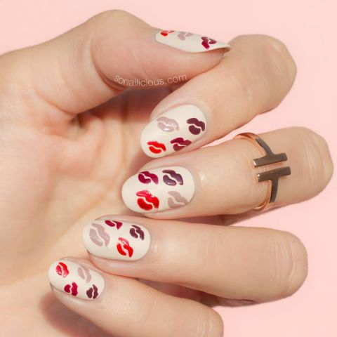 Valentine Gel Nail Designs