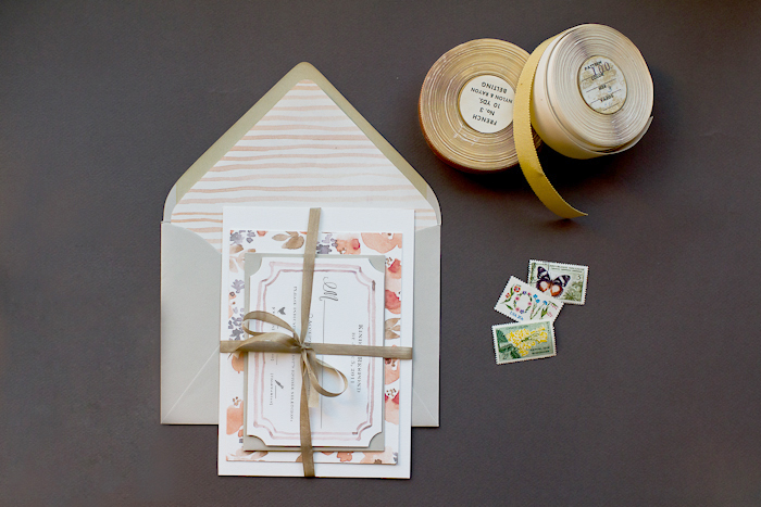 Watercolor Wedding Invitations DIY