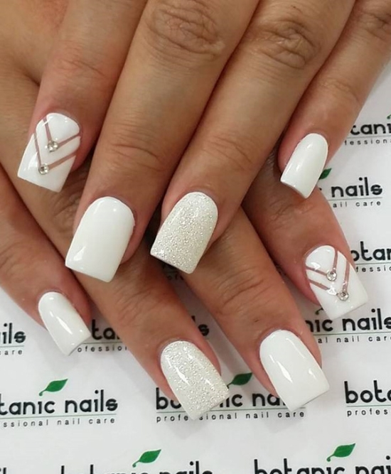 White Gel Nail Designs