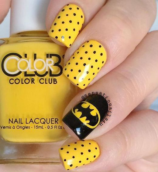 Yellow Gel Nail Designs