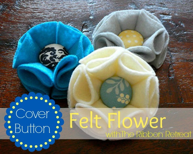 Baby Flower Headbands With Buttons