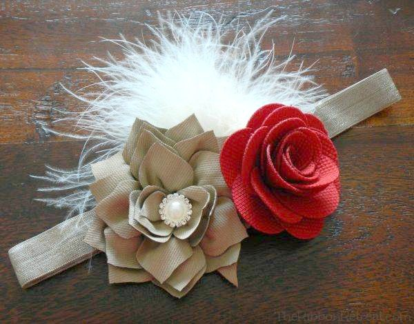 Baby Flower Headbands With Fabric Roses DIY