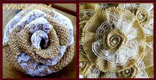 Burlap And Lace Flower