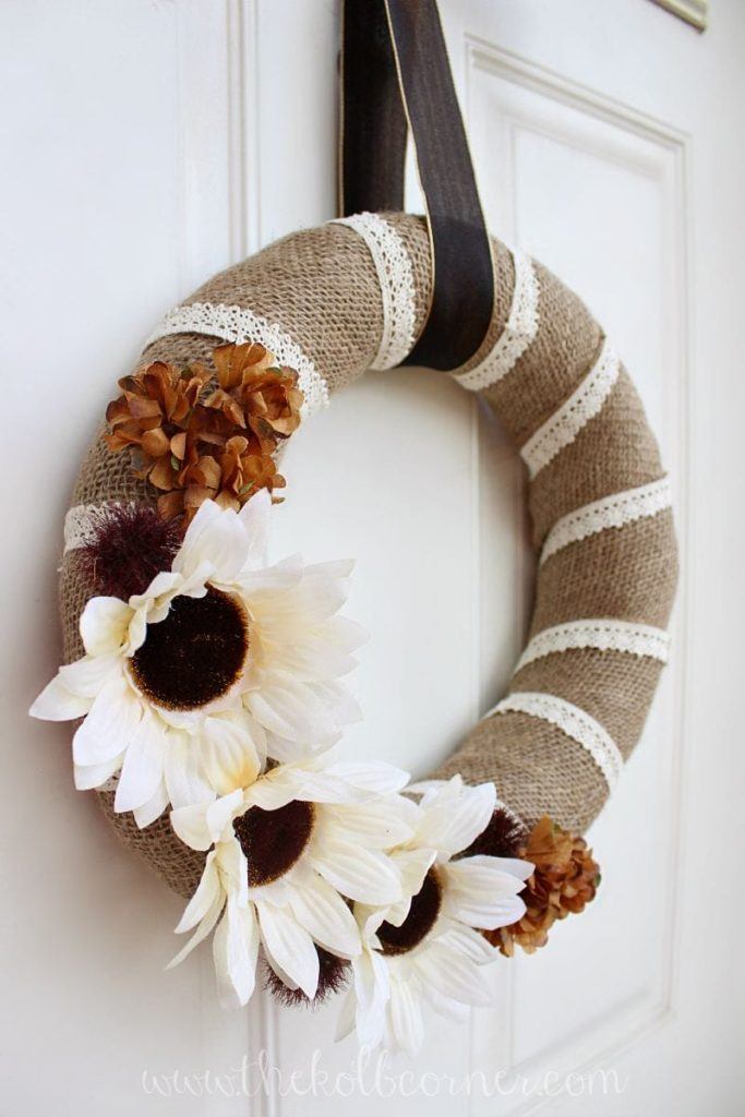Burlap And Lace Wreath Ideas