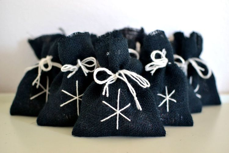 Burlap Candy Gift Bags