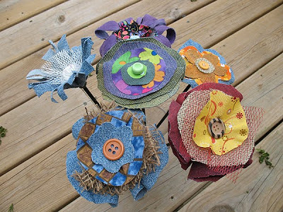 Burlap Craft Flowers