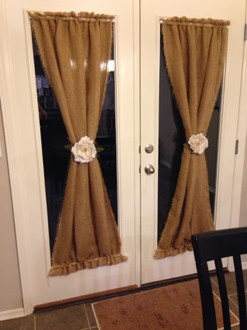 Burlap Curtain Panels DIY Tutorial