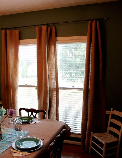 Burlap Kitchen Curtains Tutorials