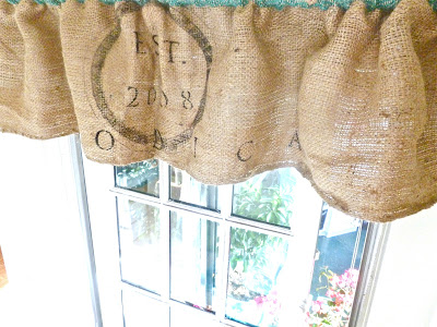 Burlap Sack Curtains