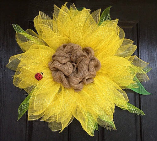 Burlap Sunflower DIY