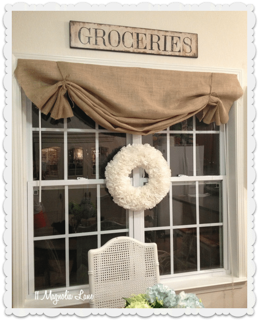 Burlap Valance Curtains