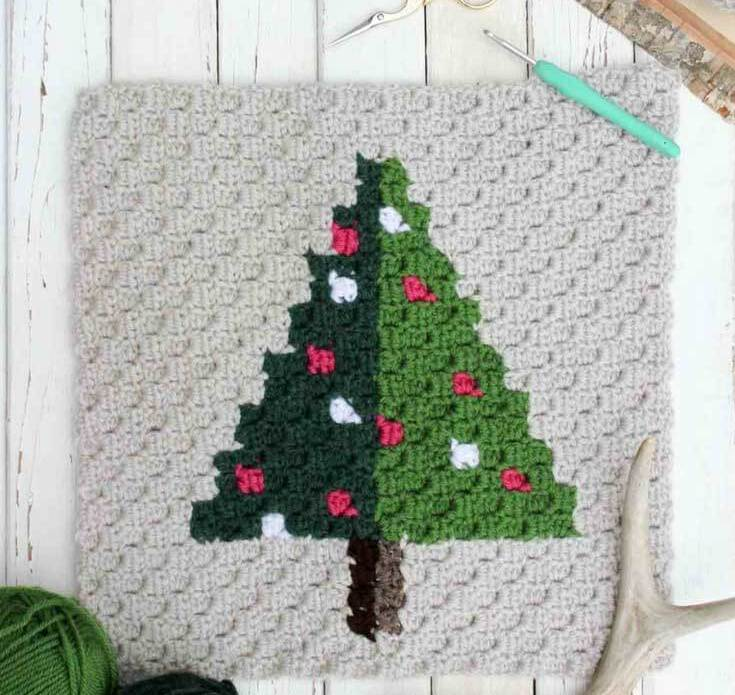Christmas Afghan Crochet Pattern Tutorial